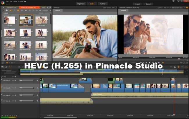 x265 hevc in pinnacle