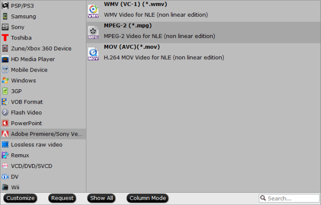 convert TiVo recordings for use in Avid, Premiere and Vegas