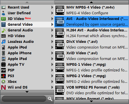 transcode MTS clips to AVI