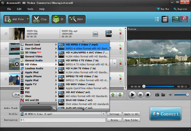 convert AVI, MKV, MP4 video files with 5.1 channel to AC3 5.1/Stereo video