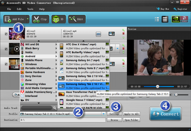 can't play DivX/Xvid encoded AVI files on Galaxy Tab Pro