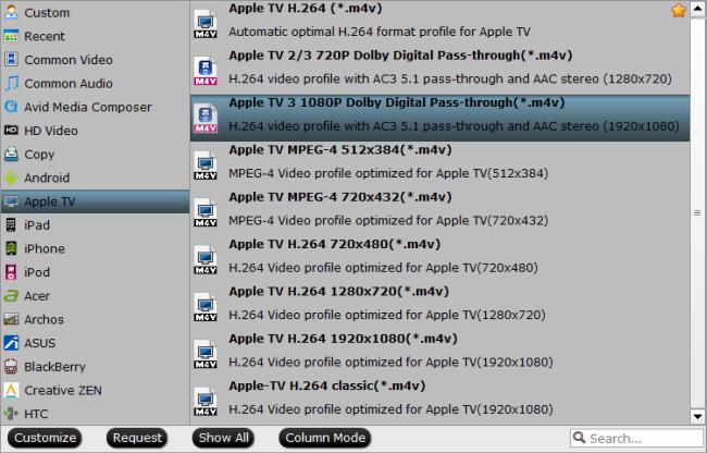 TiVo shows to M4V Conversion