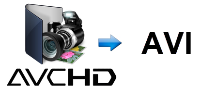 convert Sony AVCHD .m2ts files to .AVI files