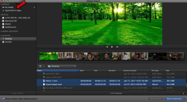 import video files from your DSLR camera to Final Cut Pro X