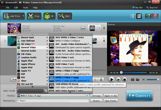convert MKV to MPEG-2 for making DVDs