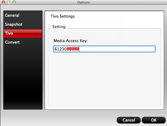 convert TiVo recordings to QuickTime movie format for iMovie