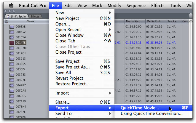 convert a Final Cut Pro (7 or X) project into MKV, MP4, AVI, MPG