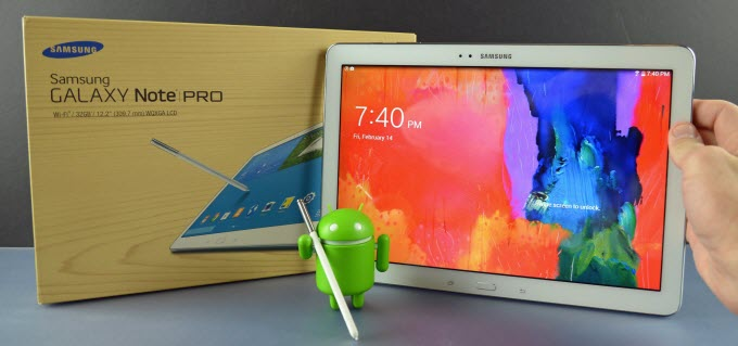 what file formats Galaxy Note Pro 12.2 will play