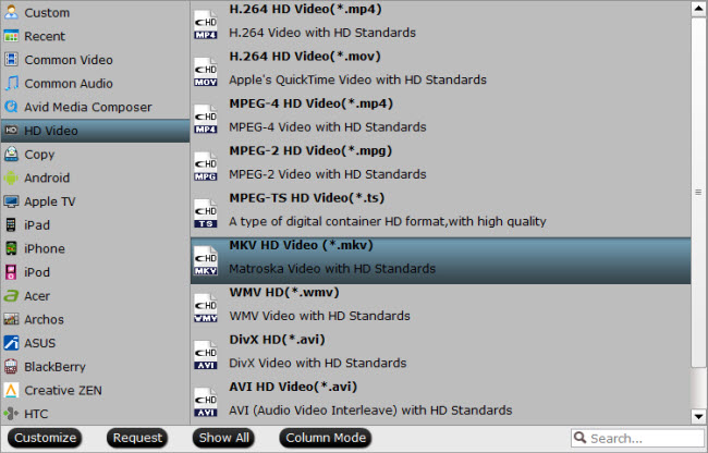 embed .srt, .ass, and .ssa subtitles to MKV movies