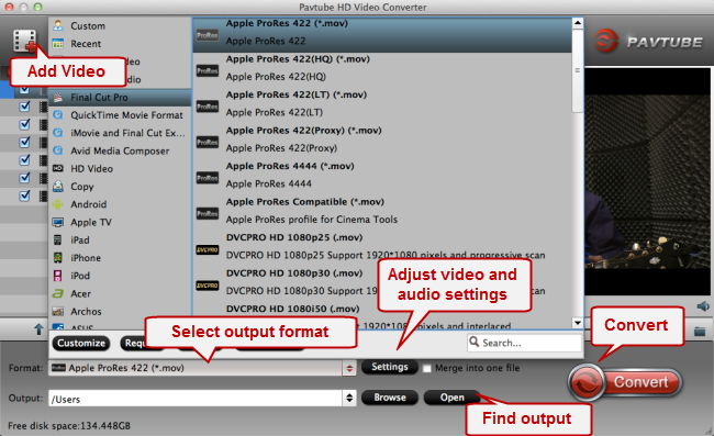 convert gxf to quicktime