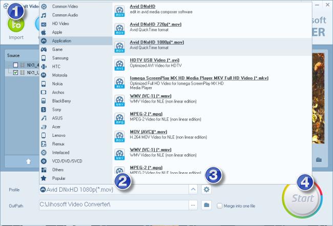 create editable file from NX1 H.265/HEVC 4K MP4/AVI video for Avid MC