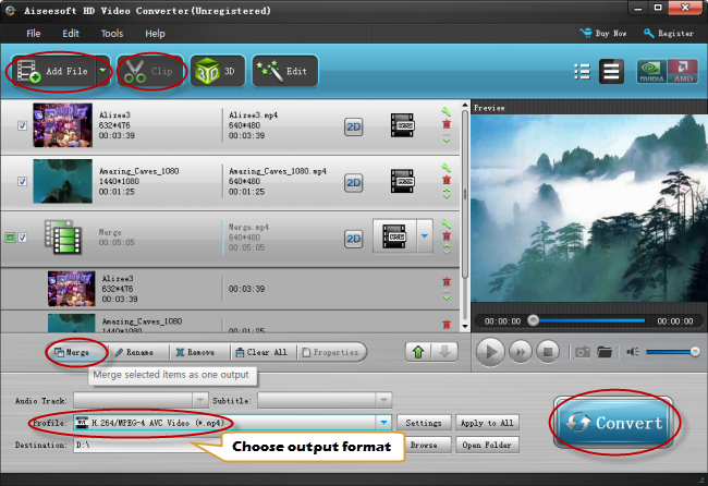 how to merge video files