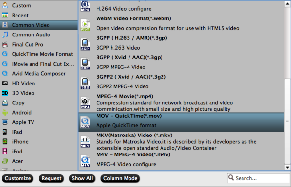 MXF to MOV/MP4/MPEG/MKV/WMV/DV AVI/ProRes conversion