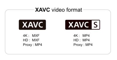XAVC and XAVC S